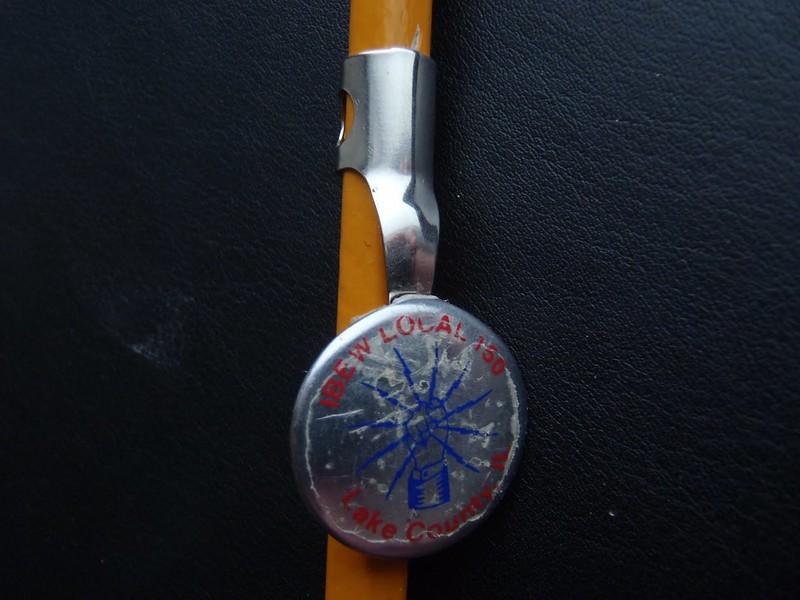 Pencil with IBEW clip