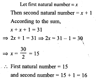 Selina Concise Mathematics Class 6 ICSE Solutions - Simple (Linear) Equations (Including Word Problems) - d9