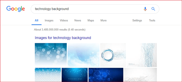 How to find google images without background