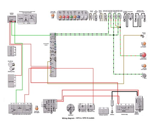 6 Series 1975-76: R60 Front Brake Light Switch Wiring [SOURCE: Haynes Manual]    --> CLICK TO ENLARGE