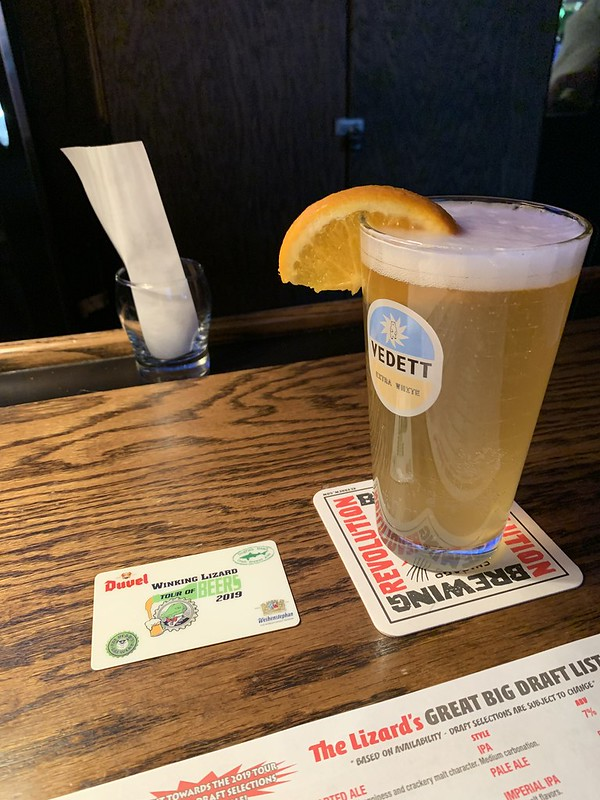 2019 Winking Lizard World Tour of Beers #18: Vedett Extra White Witbier - Light, wheat, and easy to drink.