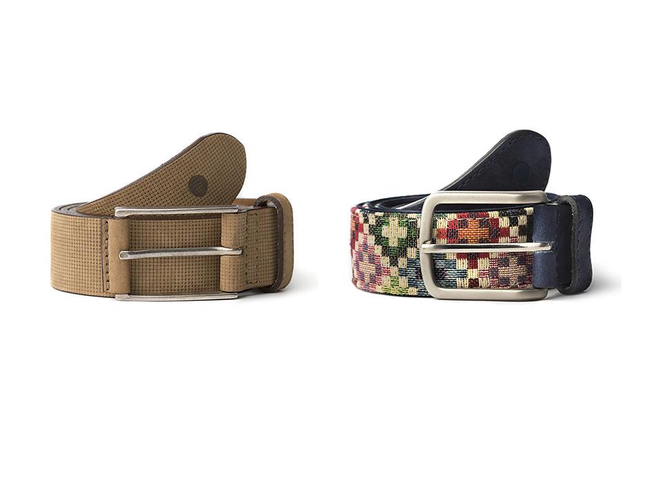Cinturones para hombre en piel de curtición vegetal el tauce y el anaga de blue hole
