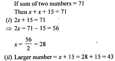 Selina Concise Mathematics Class 6 ICSE Solutions - Simple (Linear) Equations (Including Word Problems) - d17.