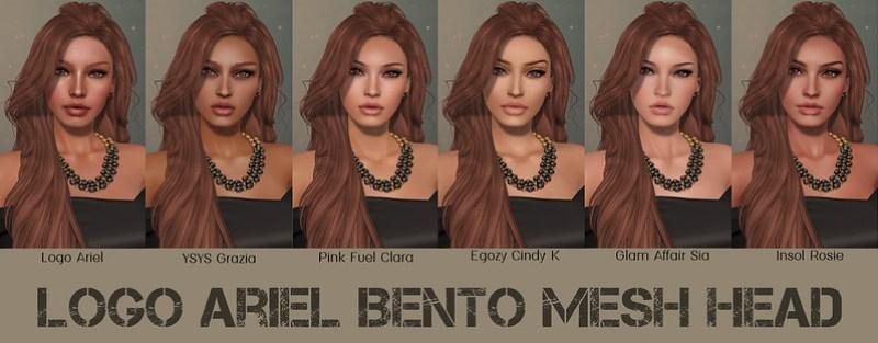 Logo Ariel Bento Mesh Head Skins
