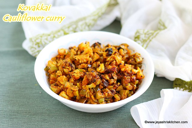 Kovakkai cauliflower curry