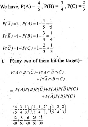 Plus Two Maths Chapter Wise Questions and Answers Chapter 13 Probability 13