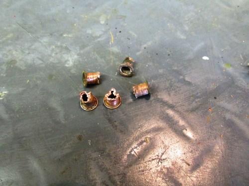 Dash Copper Rivets Removed