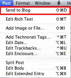 Send to Blog