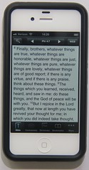 PocketSword on an iPhone