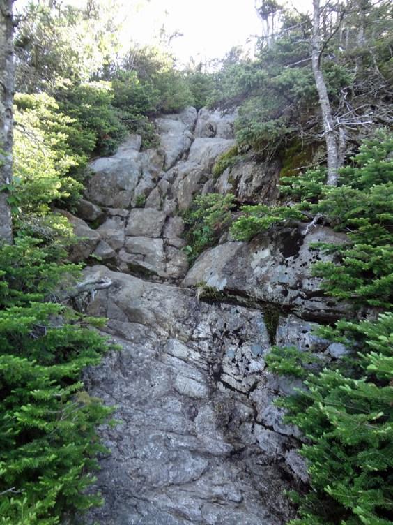 AT Rock Ledge on Goose Eye Mountain