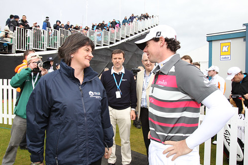 Tourism Minister With Rory McIlroy at Irish Op...
