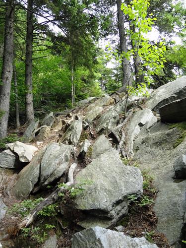 Climb to Eastman Ledges on NH Appalachian Trail