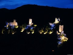 Lastours, Cathar Castle by Night