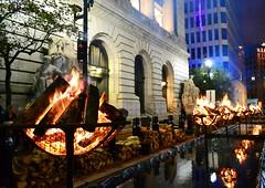 WaterFire in Kennedy Plaza