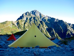"""Mt.Tsurugidake and LOCUS GEAR shelters • <a style=""""font-size:0.8em;"""" href=""""http://www.flickr.com/photos/40286809@N02/8038236724/"""" target=""""_blank"""">View on Flickr</a>"""