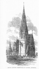 """Trinity Church, Irvine, Engraving 1864 • <a style=""""font-size:0.8em;"""" href=""""http://www.flickr.com/photos/36664261@N05/8096093121/"""" target=""""_blank"""">View on Flickr</a>"""