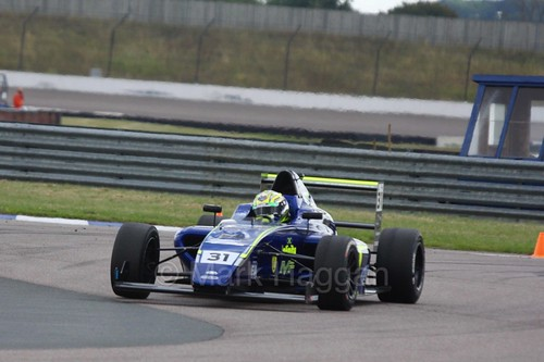 Max Fewtrell in British F4 at Rockingham, August 2016