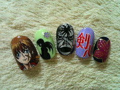 "Anime Fingernails 13 • <a style=""font-size:0.8em;"" href=""http://www.flickr.com/photos/66379360@N02/8440916586/"" target=""_blank"">View on Flickr</a>"
