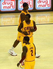 Tristan Thompson, Dion Waiters, and Kyrie Irving