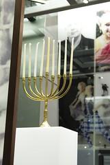 Chanukiah on display at the Migration Museum