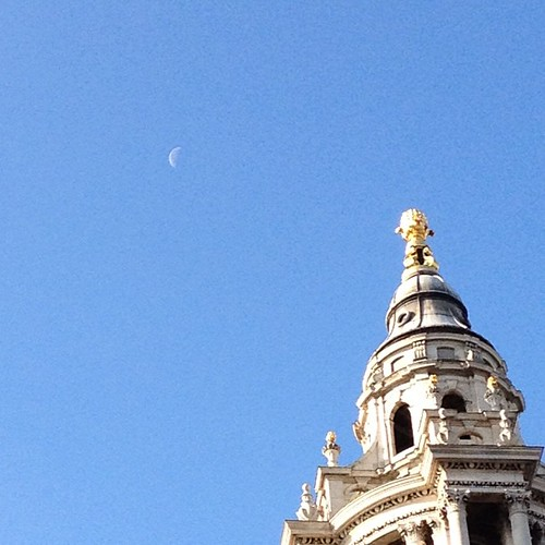 Moon over St Paul's
