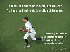 To learn and not to do is really not to learn....