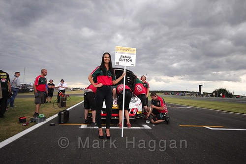 Ashley Sutton's car on the Grid Walks at the BTCC 2016 Weekend at Snetterton