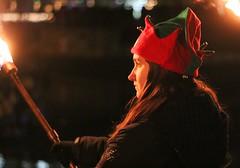 Santa's elves light the way.