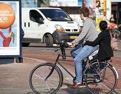 Fiets: fietsliefhebbers, Leidesplein, Amsterdam,