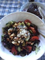Garden salad with grilled steak #naturallyglutenfree #gf #glutenfree