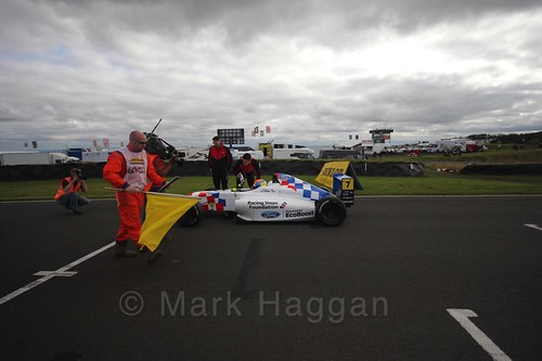 Alex Quinn on the final British Formula Four grid during the BTCC Knockhill Weekend 2016