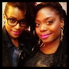 Pink lips and natural hair don't care!  With t...