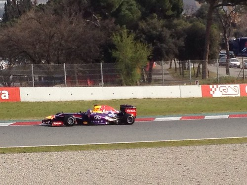 Sebastian Vettel at Formula One Winter Testing 2013