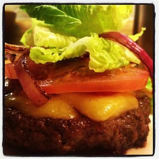 First burger back