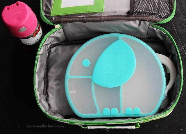 Boon Trunk Snack Box in a big Go Green Lunch Box carry bag