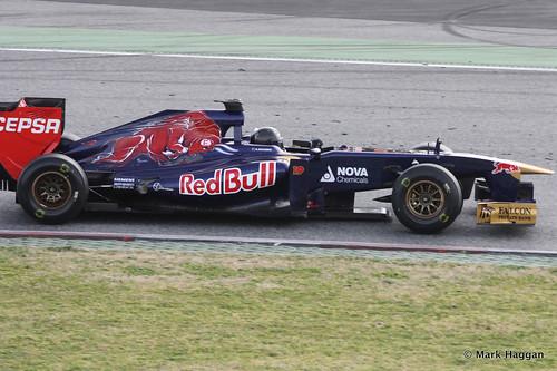 Daniel Ricciardo in his Torro Rosso at Formula One Winter Testing 2013