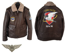"""Space Battelship Yamato Flight jacket by plot • <a style=""""font-size:0.8em;"""" href=""""http://www.flickr.com/photos/66379360@N02/8573841798/"""" target=""""_blank"""">View on Flickr</a>"""
