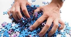 """Das Puzzleteil. Die Puzzleteile. Die Frau mischt die Puzzleteile. • <a style=""""font-size:0.8em;"""" href=""""http://www.flickr.com/photos/42554185@N00/28856780742/"""" target=""""_blank"""">View on Flickr</a>"""