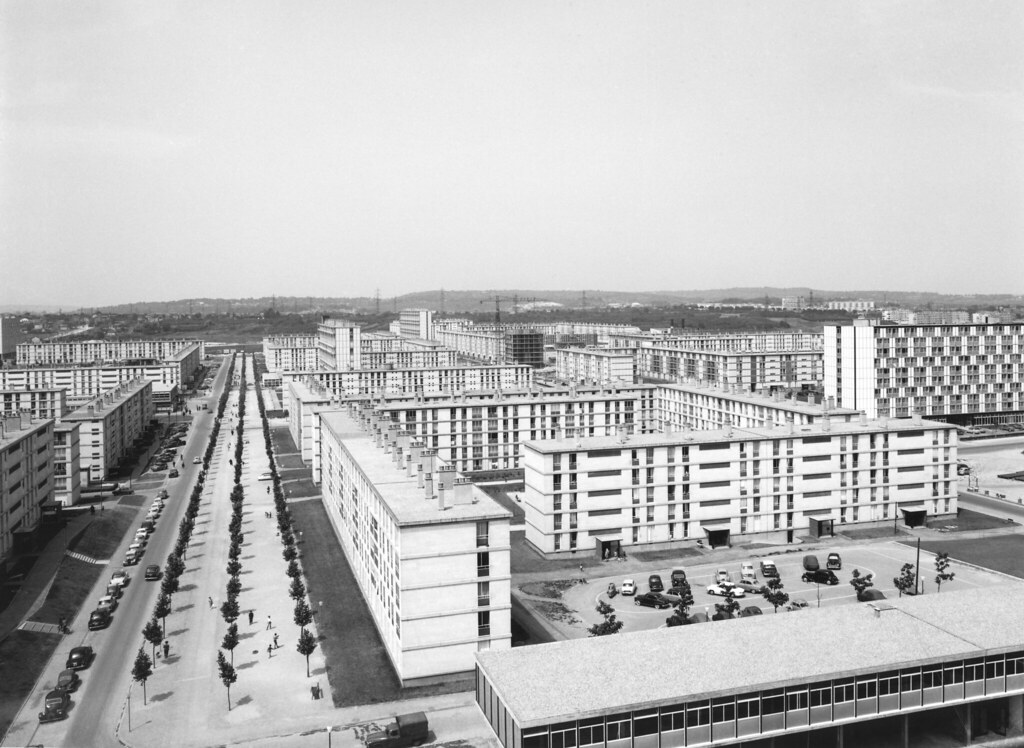 grand ensemble de sarcelles en 1961 archives photographiques du mru tags labourdette 1961