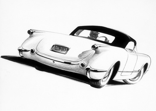 1953 Chevrolet Corvette Sketch 070806-1