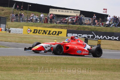 Ayrton Simmons in British Formula 4 during the BTCC 2016 Weekend at Snetterton