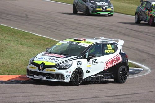 Senna Proctor in the Clio Cup at Rockingham, August 2016