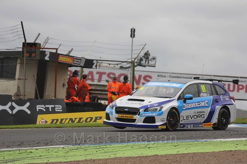 Jason Plato in BTCC race 2 during the Knockhill Weekend 2016