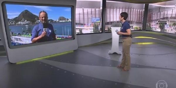Em momento fofo da Rio-2016, Sandra pede marido para passar protetor solar