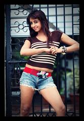 South Actress Sanjjanaa's Never give up tatoo (3)