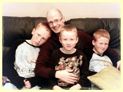 Today is all about...child minding the nephews