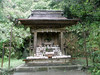 Photo:#8664 shrine with fox offerings By