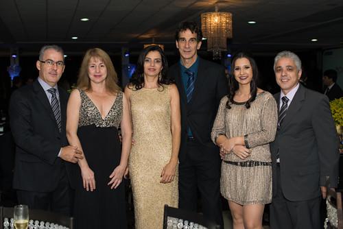 João Paulo Jr. e Mônica, Myriam e Cláudio Carvalho, Rdson e Cíntia Araújo