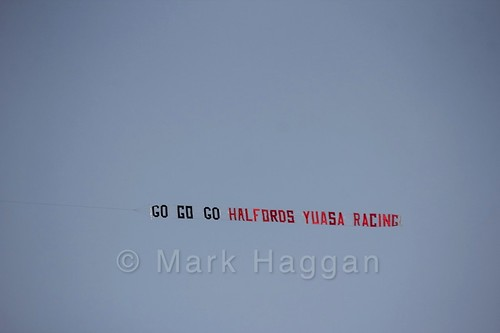 Halfords' Aerial sign at the BTCC Brands Hatch Finale Weekend October 2016