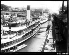 Manly ferry SS BARAGOOLA and French warship BE...